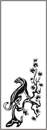 matting: Dibujo para espejos arenado 1-12 Vectores