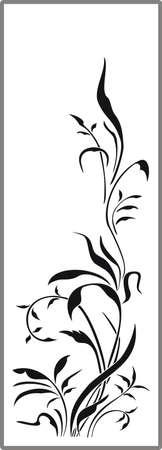 Drawing for sandblasting mirrors 1-14 Stock Vector - 20242791