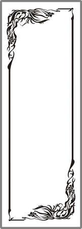 matting: Dibujo para espejos arenado 1-16 Vectores