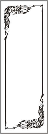Drawing for sandblasting mirrors 1-16 Stock Vector - 20245202