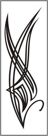 matting: Dibujo para espejos arenado 1-17 Vectores