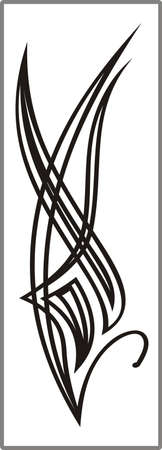 Drawing for sandblasting mirrors 1-17 Stock Vector - 20245200