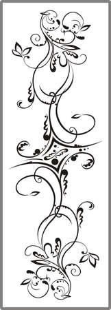 matting: Drawing for sandblasting mirrors 1-19 Illustration