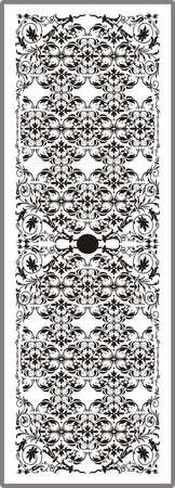 matting: Dibujo para espejos arenado 1-27 Vectores