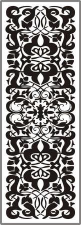 matting: Dibujo para espejos arenado 1-28 Vectores