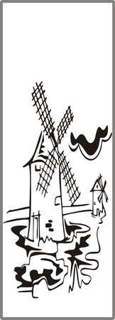 matting: Dibujo para espejos arenado 1-35 Vectores