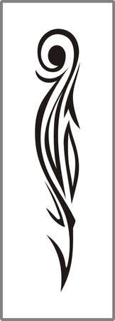 matting: Dibujo para espejos arenado 1-34 Vectores