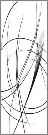 Drawing for sandblasting mirrors 1-31 Stock Vector - 21865305