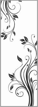 matting: Drawing for sandblasting mirrors Illustration