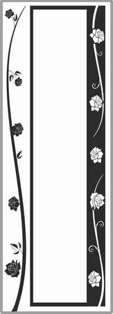 matting: Drawing for sandblasting mirrors 1-58 Illustration
