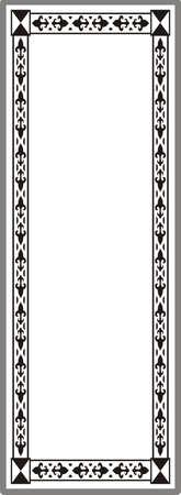 Drawing for sandblasting mirrors Illustration