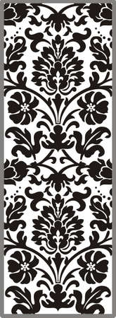 matting: Floral ornament black and white vector
