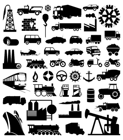 flank: Industrial function silhouettes.