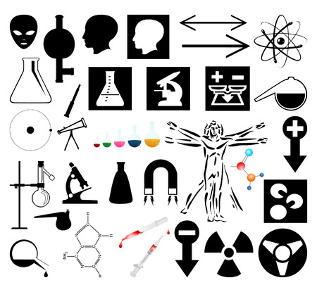 Collection of scientific pictures.  Stock Vector - 6844895
