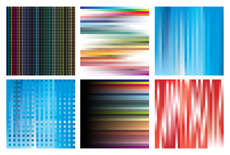 shingles: Collection of linear structures of different colours.illustration Illustration