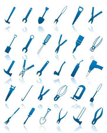 The collection of icons of tools.  Stock Vector - 8193327