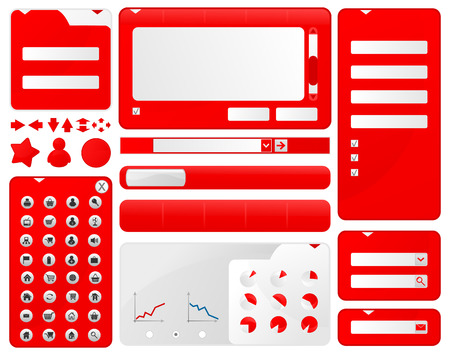 Elements of design for web a site.  illustration Vector
