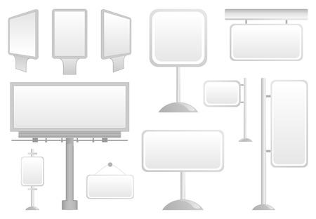 publicity: Placas de publicidad para la colocaci�n de la informaci�n. Ilustraci�n Vectores