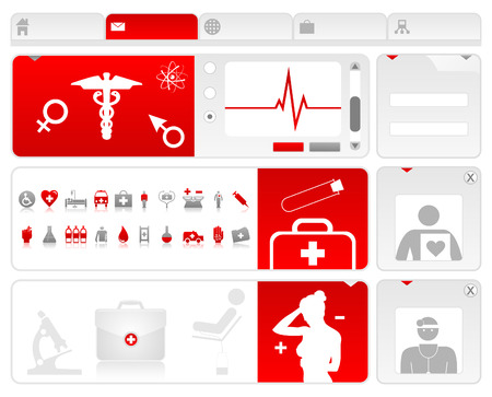 Site on a medical theme.  Vector