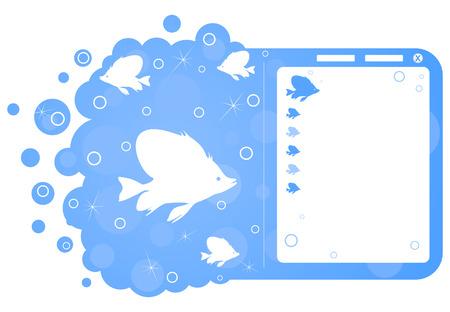 Site breadboard model on a sea theme.  illustration Stock Vector - 8789206