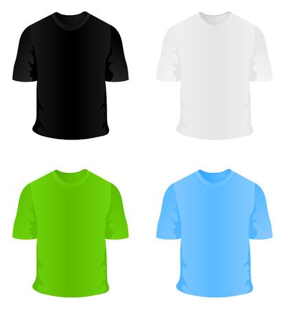 sportswear: T-short sportswear for a body. Illustration