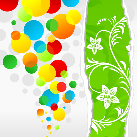 Background cheerful multi-coloured balls. Vector