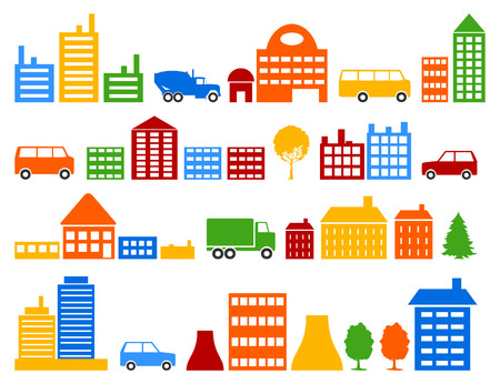 Set of icons of houses. A vector illustration Stock Vector - 8912508