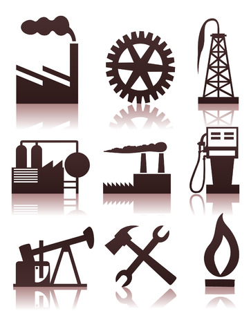 metallurgy: Collection of icons on a theme the industry. A vector illustration