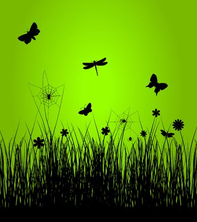 Insects have woken up in the spring. A vector illustration Stock Vector - 8912526