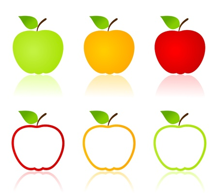 ripened: Set of icons of apples