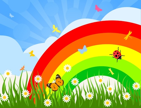 sod: Rainbow over a glade of insects