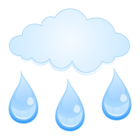 From a cloud it is raining. A vector illustration Vector