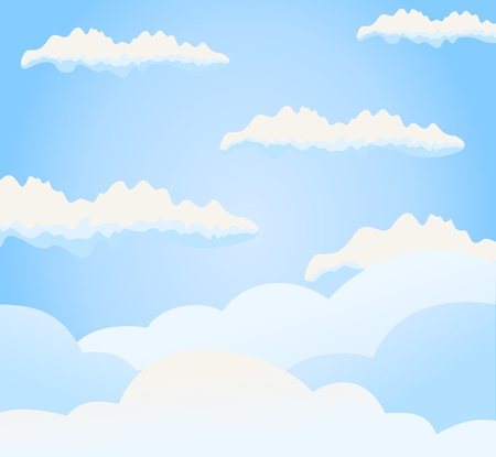 The blue sky and clouds on it. A vector illustration Stock Vector - 9601416