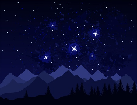 headwaters: Galaxies and stars in space. A vector illustration Illustration