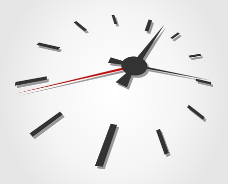 readout: Arrows of hours on a grey background. A vector illustration Illustration