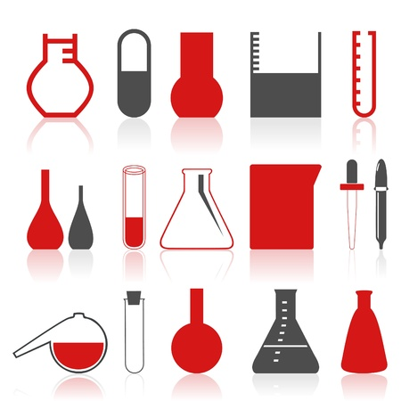 boiling tube: Collection of icons on a theme chemistry.