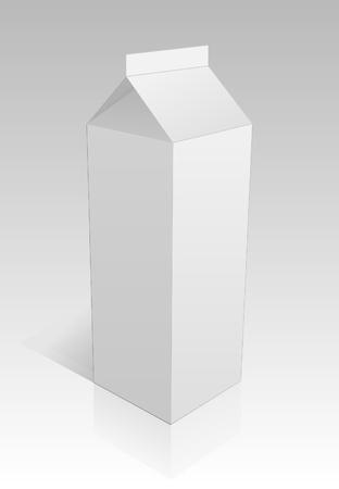 shoping bag: Milk package on a grey background.  Illustration