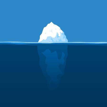 titanic: L'iceberg blanc flotte � l'oc�an. Une illustration vectorielle