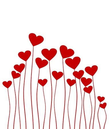 golondrina: Planta en forma de coraz�n rojo. Una ilustraci�n vectorial Vectores