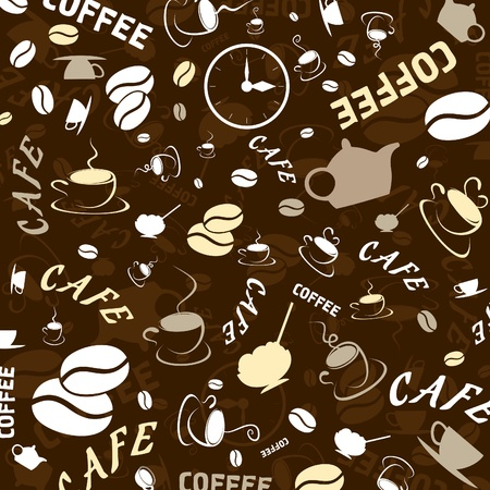 Brown background on a coffee theme. An illustration Vector