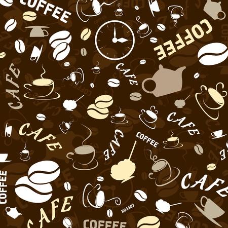 hot plate: Fondo de color marr�n sobre un tema de caf�. Una ilustraci�n