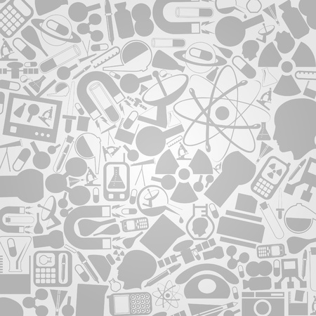 Background from technics and a science  A vector illustration Stock Vector - 12595320