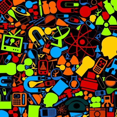 atomo: Antecedentes de la t�cnica y una ciencia Una ilustraci�n vectorial Vectores