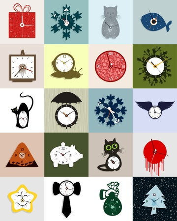 readout: Set of interesting hours. A vector illustration