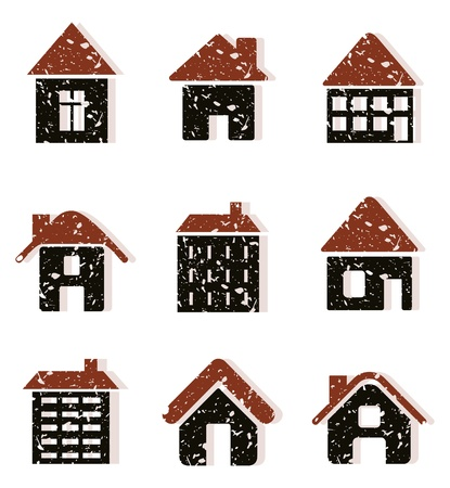 Set of icons of houses  A vector illustration Stock Vector - 12892422