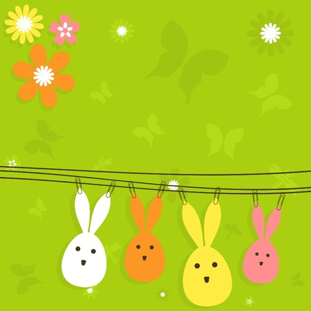 Card on a theme Easter illustration