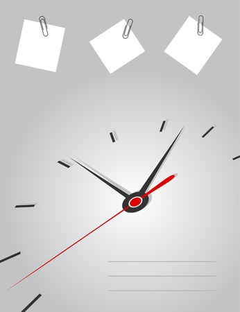 readout: Arrows of hours on a grey background illustration Illustration