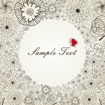 Framework for the text from a flowers  A vector illustration Stock Vector - 13291383