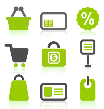 purchase icon: Set of icons on a theme sale  A vector illustration