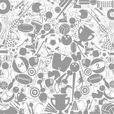 Grey background on a theme sports  A vector illustration Vector